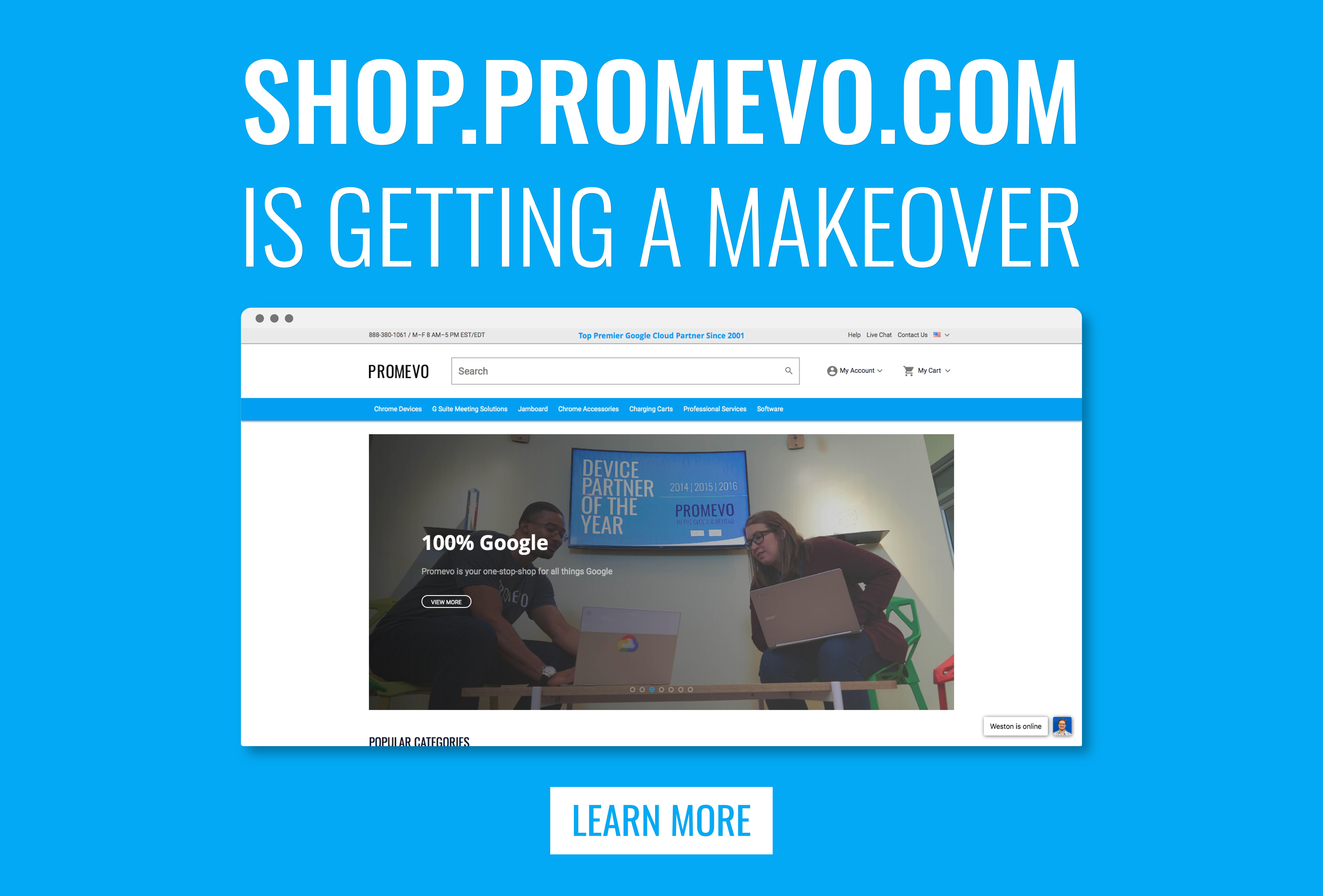 New Promevo Shop Website Coming